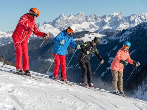 Privatunterricht in der Skischule in Zauchensee